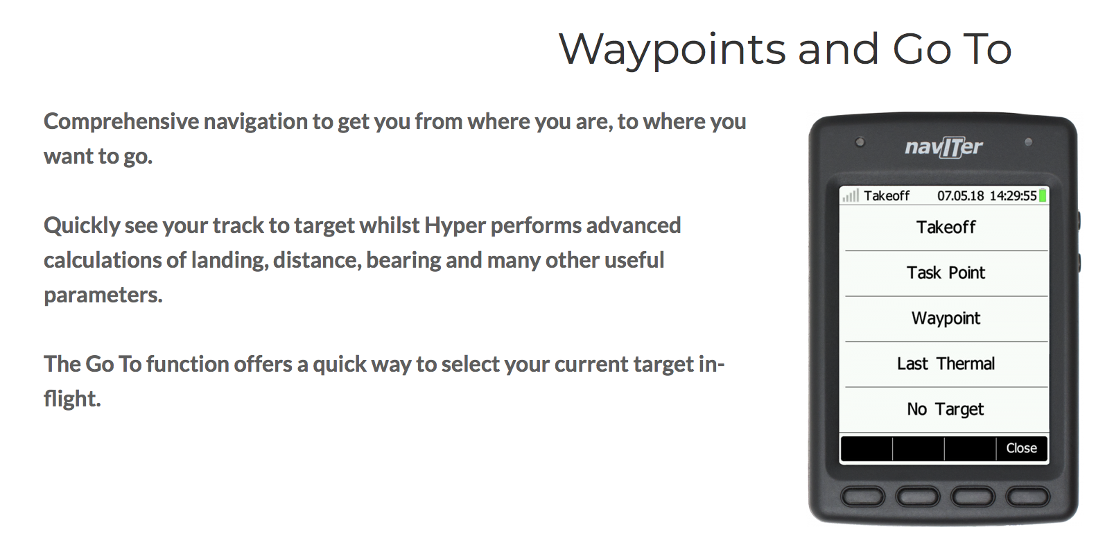 Naviter Hyper - Waypoints and Go To